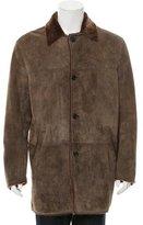 Cole Haan Suede Shearling Coat