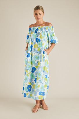 Seed Heritage Retro Floral Off Shoulder Dress
