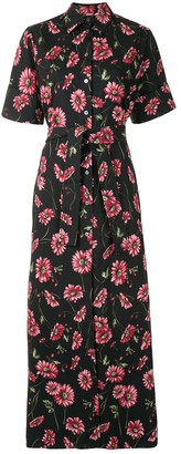Adam Lippes Floral Tie-Waist Dress