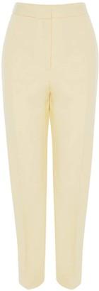 Alexander McQueen High Waist Cool Wool & Silk Slim Pants
