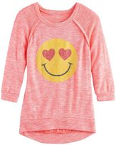 Miss Chievous Girls 7-16 & Plus Size 3/4 Hatchi Graphic Top