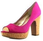 Jessica Simpson Candi Women Open Toe Canvas Platform Heel.