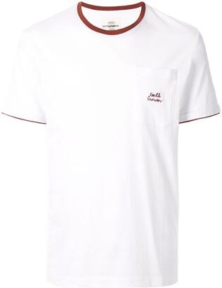 Kent & Curwen contrast-collar logo T-shirt