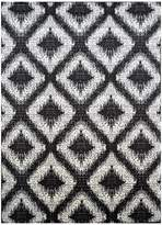 Cornermill Rivan Modern Rug, Black, 160x225cm