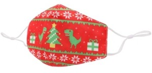 OMG Accessories Kid's Dino Ugly Sweater Face Mask
