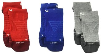 Nike Dry Cushion No Show Socks 3-Pair Pack (Toddler/Little Kid/Big Kid) (Multicolor 5) Kids Shoes