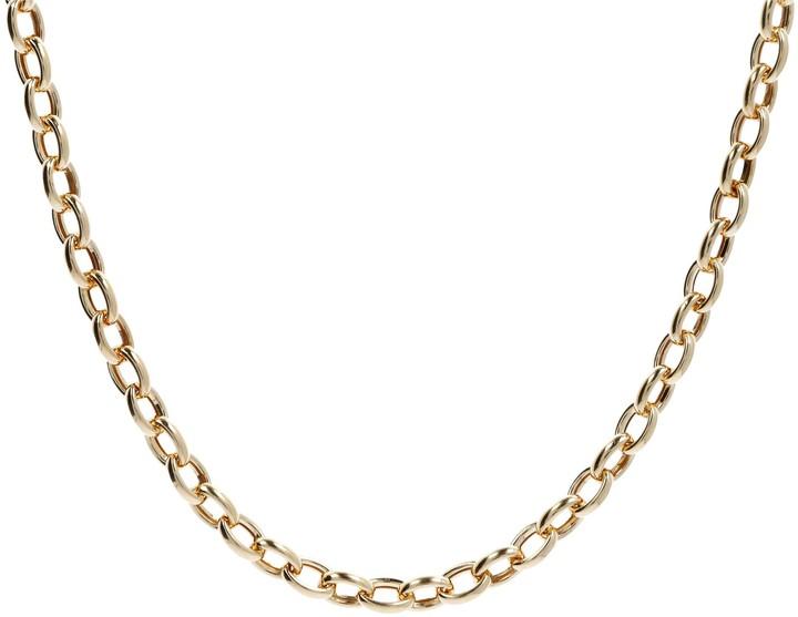"""Eterna Eternagold Gold 18"""" Polished Oval Rolo Link Necklace, 14K 10.2g"""