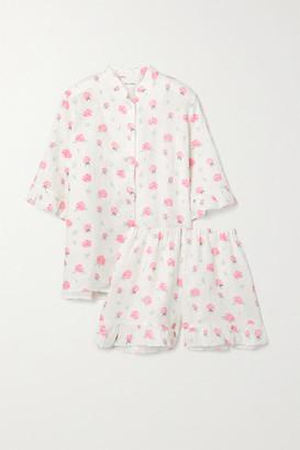 Sleeper Floral-print Linen Pajama Set