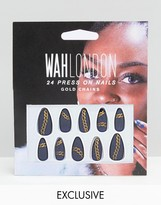 Wah London & Asos Press On Nails - Chain Mail