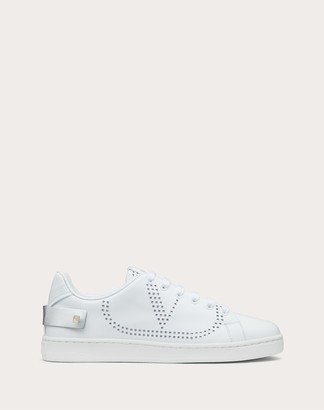 Valentino Backnet Vlogo Sneaker Women White/silver Calfskin 100% 35