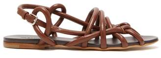 Jil Sander Caged Rope Strap Leather Sandals - Womens - Tan