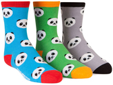 Trumpette Blue & Green Panda Crew Sock Set - Boys
