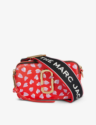 Marc Jacobs Snapshot heart-print leather cross-body bag