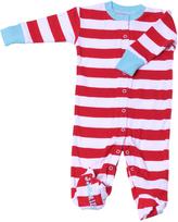 New Jammies Red & Blue Stripe Organic Footie - Infant