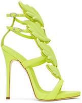 Giuseppe Zanotti Green Coline Wings Sandals