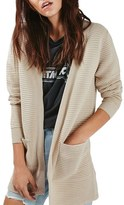 Topshop Ottoman Ribbed Open Cardigan