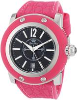 Glam Rock Women's GR30019PPF-PNK Miami Black Dial Pink Silicone Watch