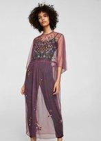 MANGO Plumeti floral embroidered dress
