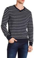Nautica Stripe V-Neck Sweater