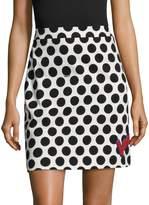 Love Moschino Women's Graphic Polka Dots Mini Skirt