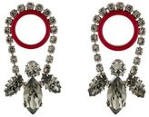Christian Dior Crystal & Enamel Drop Earrings
