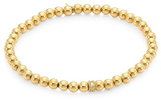 Sydney Evan 14K Gold & Diamond Bead Bracelet