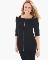 Chico's Cold-Shoulder Zipper Top