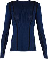 Diane von Furstenberg Striped ribbed-knit sweater
