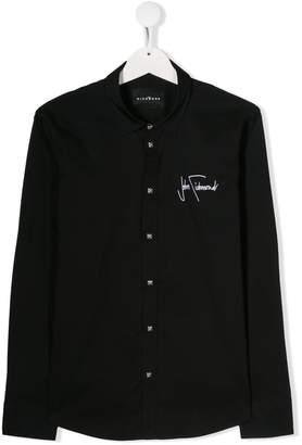 John Richmond Junior embroidered-logo long-sleeve shirt