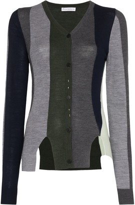 J.W.Anderson V-neck stripe cardigan