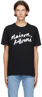 MAISON KITSUNÉ Black Handwriting Classic T-Shirt