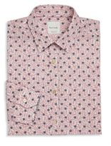 Paul Smith Floral Print Cotton Dress Shirt