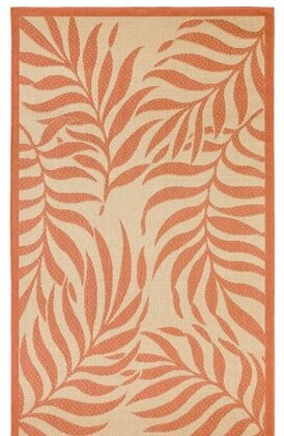 "Cassana Tropical Beige/Orange Indoor/Outdoor Area Rug Bay Isle Home Rug Size: Rectangle 5'11"" x 3'11"""
