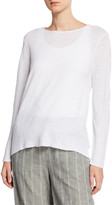 Eileen Fisher Plus Size Organic Linen Long-Sleeve Tunic
