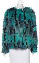 Marc Cain Printed Faux Fur Coat