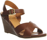 Office Mayday Cross Strap Wedge Sandals