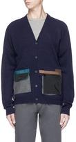 Kolor Contrast pocket wool cardigan
