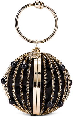 Rosantica Sasha Bag in Black Beads With Crystals | FWRD