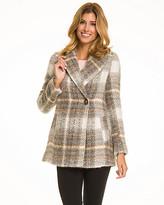 Le Château Check Print Wool Blend Coat