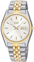 Seiko Mens Two-Tone Stainless Steel Dress Watch SGF204
