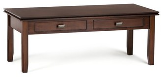 Three Posts Gosport Solid Wood Coffee Table with Storage Color: Russet Brown
