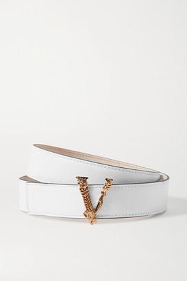 Versace Leather Belt - White