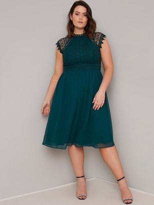 Chi Chi London Curve Simona Dress - Teal