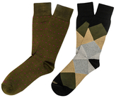 Etiquette Clothiers Ball Point and Harlequin Mercerized Socks (2 PK)