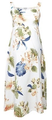 Dorothy Perkins Womens Dp Maternity White Floral Print Fit And Flare Dress, White