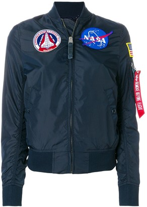 Alpha Industries NASA patches bomber jacket
