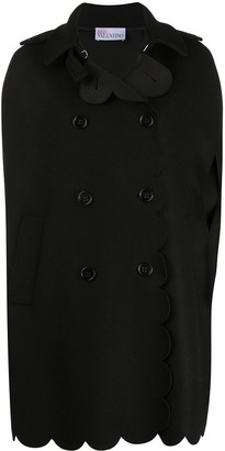 RED Valentino Double-Breasted Cape