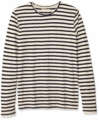 Nudie Jeans Unisex-Adult's Orvar Long Sleeve Striped XX-Large