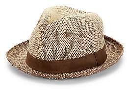 Paul Smith Men's Two Tone Straw Fedora Hat