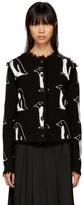Thom Browne Black Cashmere Penguin Crewneck Cardigan